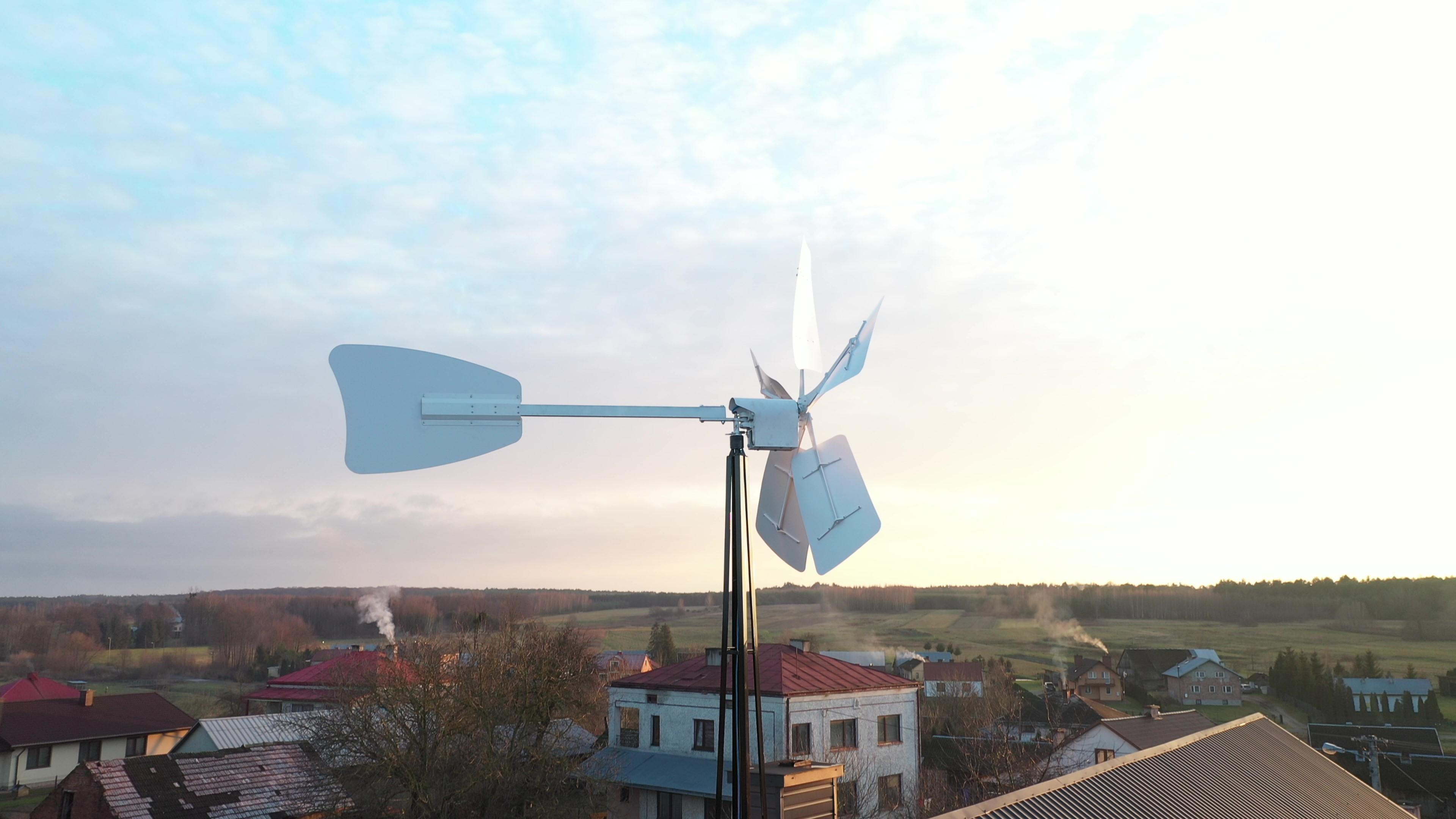 Ekologiczny bezobsługowy system do napowietrzania akwenów wodnych oparty na technologii małogabarytowych turbin wiatrowych