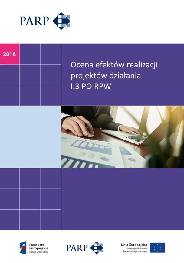 Ocena efektów realizacji projektów działania I.3 PO RPW